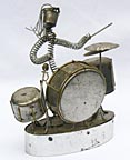 Metal drummer music box