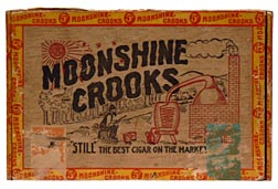 Moonshine Crooks wood cigar box