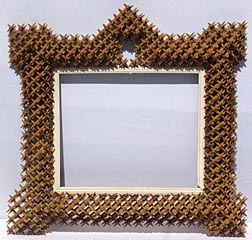 Crown of thorns tramp art frame