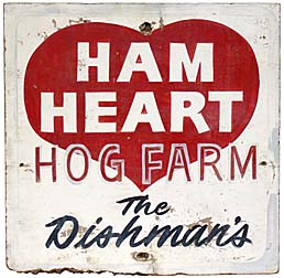 Ham Heart farm sign