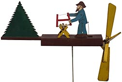 Wood cutter whirligig