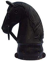 Cast iron horse head hitching post