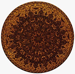 Intricate veneer decorated table top