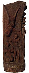 Adam and Eve carving