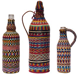 Wire covered bottles