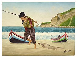 Portuguese fisherman painting