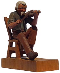 Carving of fiddler