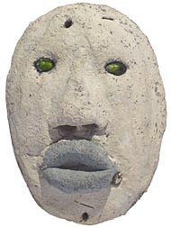 Outsider art concrete face