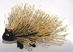 Folk art porcupine