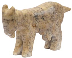 Carved stone goat