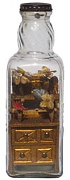 Dresser in bottle whimsy - one of a pair