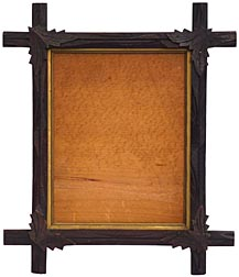 Frame with carved butterflies