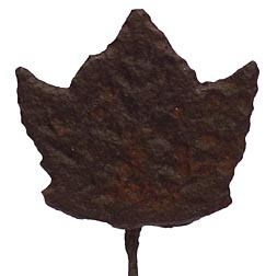19th c. hand forged iron maple leaf