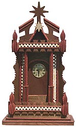 Large multicolored clock case