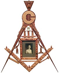 Masonic inlaid memorial