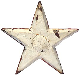 Cast iron architectural star tie-in
