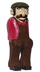 Carved Man with overalls