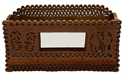 Carved fretwork comb case