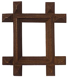 Large tramp art frame